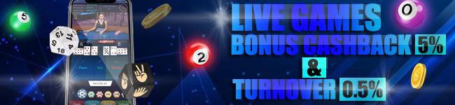 bonus cashback live game terbesar